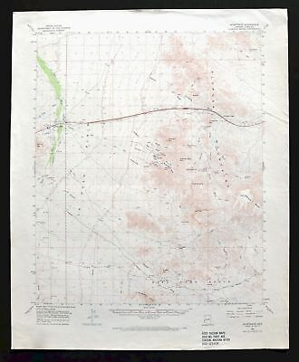 Quartzsite Arizona Vintage USGS Topo Map 1962 Kofa NWR Plomosa Mts Topographical