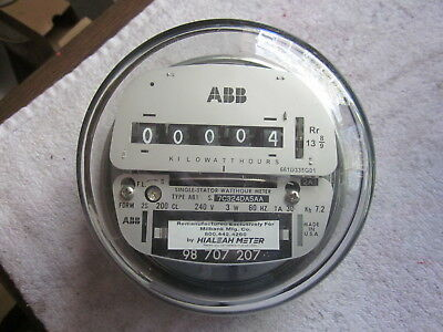 ABB Single-Stator Watthour Meter Remanufactured