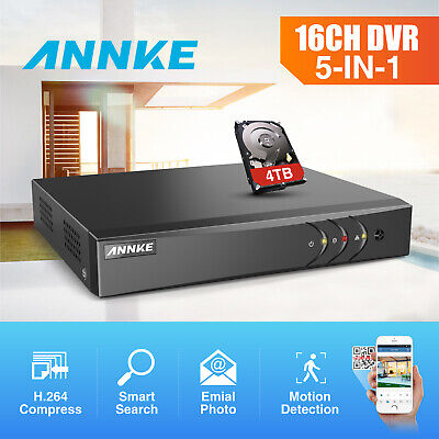 ANNKE 4CH 8CH 16CH Channel 5IN1 1080N DVR Home Security Email Picture H.264+ 2TB