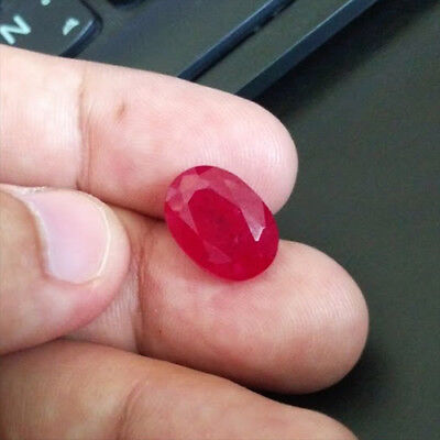 9.64 carats PIGEON BLOOD RED RUBY OVAL LOOSE GEMSTONE JEWELRY ovale rubis rouge