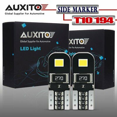 AUXITO Canbus 2X 6000K 2825 T10 168 194 W5W License Side Marker LED Light Bulb