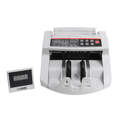 NEW Bill Counter Machine Electric Counterfeit Money Detector Cash Counting UV MG