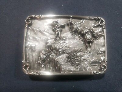 """""""Meat's not meat till it's in the pan"""" Charles M Russell Belt Buckle Siskiyou"""