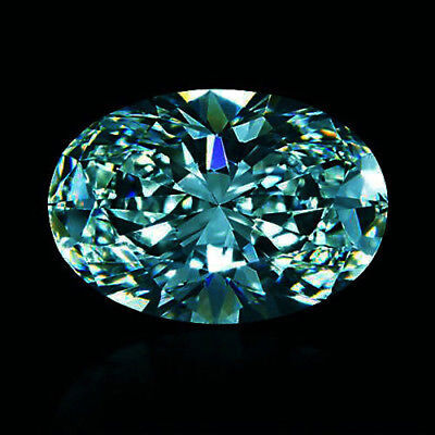 Loose Moissanite Blue VVS1 1.00 ct 7 x 5 mm Oval Excellent Cut  for ring