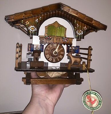 NEW German Black Forest Shingled Roof Chalet~Cuckoo Clock~ Herbert Herr