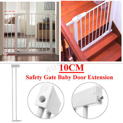 30x4'' Metal Safety Gate Baby Door Extension Child Toddler Pet Walk Lock Stairs