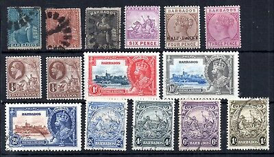 Barbados QV-KGV mint and used collection WS11581