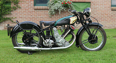 Panther Model 90  500cc OHV 1934  Redwing with dutch registration papers