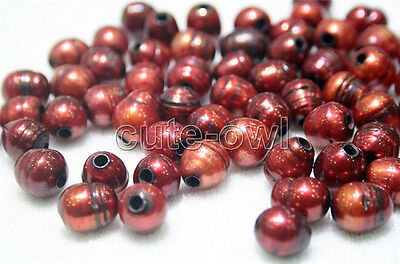 AAA+10pcs Genuine wine 10-11MM Freshwater pearl 2.3mm hole Loose Beads