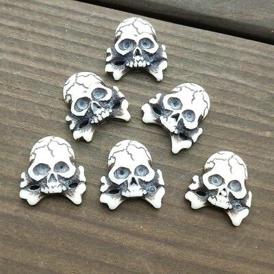 10-50Pcs 12*17mm skull Resin Appliques/Craft/Clothes/Wedding Christmas Decorate