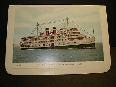 SS St. LAWRENCE, CANADA STEAMSHIP Lines Naval Cover unused postcard