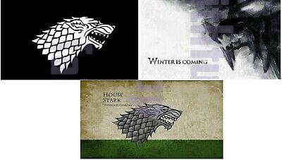 Game Of Thrones Stark Flag 90x150cm 3x5ft Winter Is Coming Free shipping
