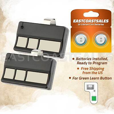 61LM 2-Pack LIFTMASTER Craftsman Sears Garage Opener Remote 390mhz 750CB 753CB