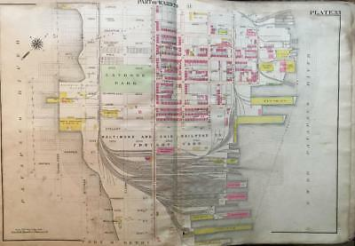 1906 Baltimore Maryland Latrobe Park Fort Mchenry Tide Point Atlas Map