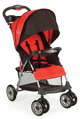 Kolcraft Cloud Plus Lightweight Baby Stroller with Multi-Position Seat, Fire Red