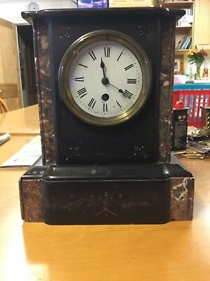 Antique  Marble  Mantle Clock - does tick for some time - hands do not go round