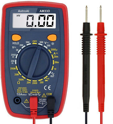 AstroAI Digital Multimeter with Ohm Volt Amp and Diode Voltage Tester Meter New