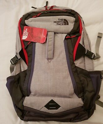 4e5842f7e91f THE NORTH FACE Router Backpack Grey And Red - £60.00