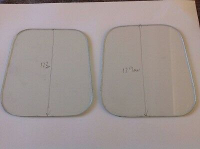 Clock Glass Two Non Square Flat 122 And 129mm Tall Clockmakers Spare Part