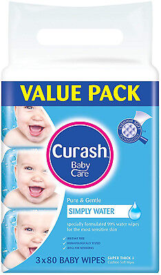 Curash Water Baby Wipes Pack Of 240 New