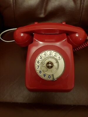 Telephone Vintage Genuine Bt Phone (Red) 1982 Excellent Condition