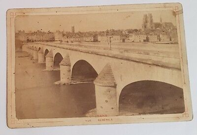 PHOTO ANCIENNE - CARTE CABINET -  Pont d'Orléans / George V