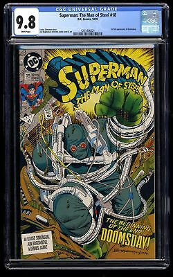 Superman: The Man of Steel #18 CGC NM/M 9.8 White