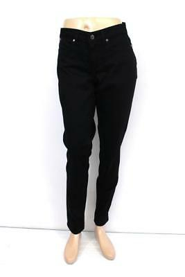 NEW $79 womens black TALBOTS curvy ankle denim jeans slimming modern TALL XS 2