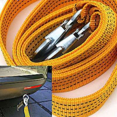 4M 3Tonne Heavy Duty Tow Towing Pull Rope Strap Car Van Vehicle Road Recovery TG