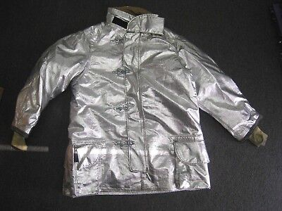 Janesville LION Firefighter Proximity Jacket Size 44 x 35 R Aluminized Turn Out