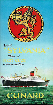 """Sylvania"" Cunard Line/First Class Deck Plan"