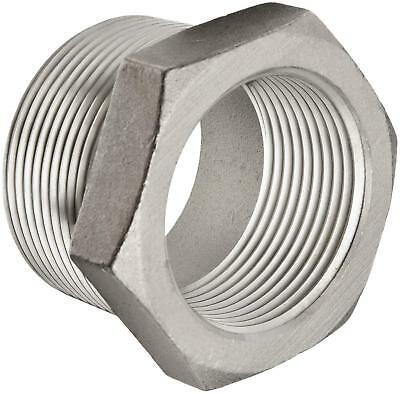 """1/2"""" M X 3/8"""" F 316 Stainless Steel Pipe Bushing (6 Pieces)"""