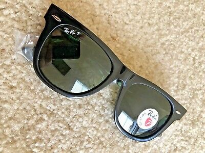 14db56ed8439 Authentic Polarized Black Ray-Ban Wayfarer RB2140 901 58 54-18 Rayban  Sunglasses