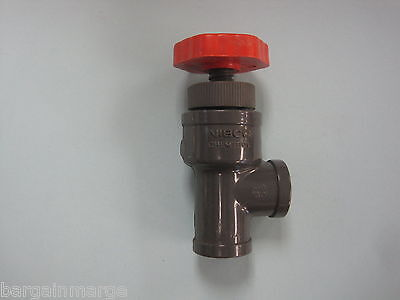 T45AC-V Angle Globe Valve Threaded Schedule 80 PVC