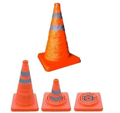 Pop Up Road Safety Cone Collapsible Pull Out Emergency Accident Traffic Cones