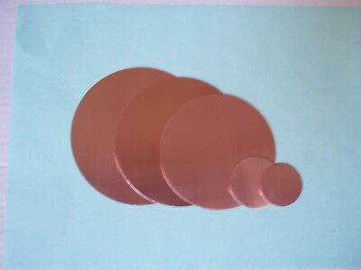 COPPER DISCS 0.7mm thick choose 8mm upto 108mmØ metal NO BURR Stampings Blanks`