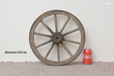 vintage old wooden cart wagon wheel - 40.5 cm  FREE DELIVERY