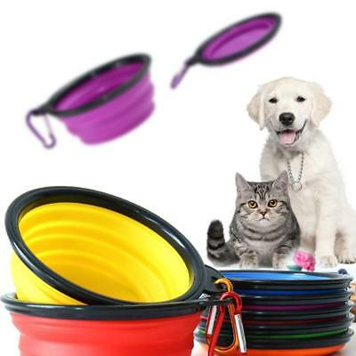Durable Portable Collapsible Silicone Bowl Water Dish Feeder Fit For Cat Dog Pet
