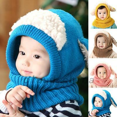 Cold Weather Baby Kids Child Toddler Puppy Earflap Beanie Knit Hat Cap AU Post