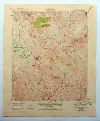 Rockinstraw Mountain Arizona USGS Topo Map 1949 Salt River Roosevelt Lake