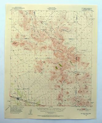 SAN SIMON ARIZONA Vintage USGS Topo Map 1950 Peloncillo Mountains ...