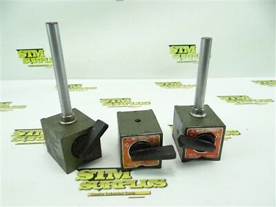 3Pc Lot Of Mitutoyo Magnetic Bases For Indicator Stands 7011S Parts Or Repair