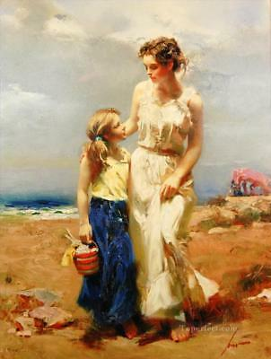 Pino Daeni,Hand-painted Portrait oil Painting On Canvas 24x32#101/Unframed