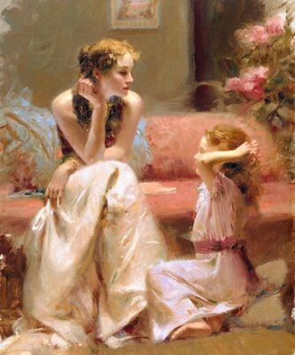 Pino Daeni,Hand-painted Portrait oil Painting On Canvas 24x32#109/Unframed