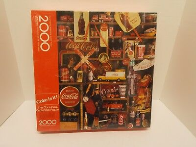 A Centennial 2K Piece Interlocking COCA~COLA Memorabilia Picture Puzzle~Sealed