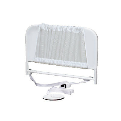 KidCo Convertible Mesh and Steel Telescopic Toddler Crib Bed Rail Guard, White