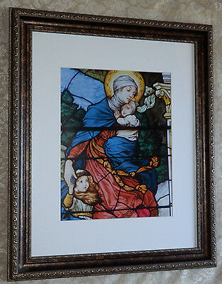 Framed Religious Print Picture of Mother Madonna & Child