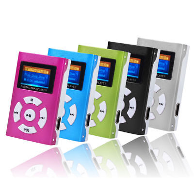 USB Digital Mp3 Music Player Mini Portable Support 32GB SD/TF Card LCD Screen