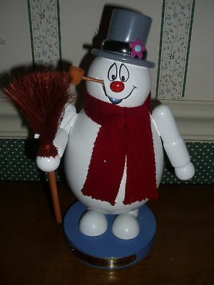 "Kurt Adler--10"" Wooden Frosty The Snowman Nutcracker--New"