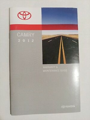 toyota camry 2012 owners manual